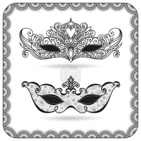 Carnival masks set.