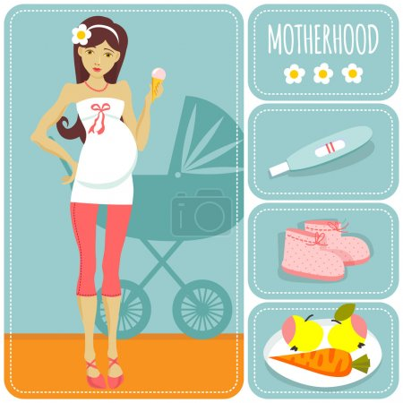 Illustration for Illustration of a young pregnant woman - Royalty Free Image
