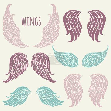 Set of angel wings.