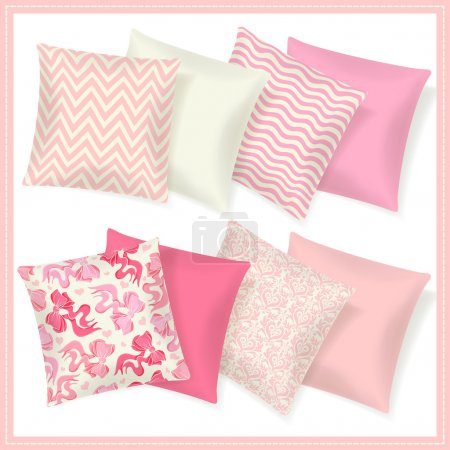 Set of colorful pillows.