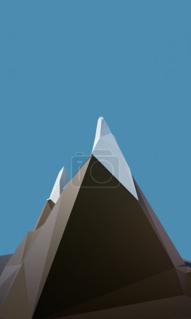 Photo for 3d low poly Mountain - Royalty Free Image