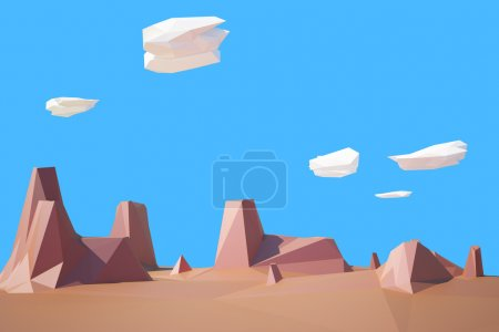 Photo for Low poly desert Colorado illustration - Royalty Free Image