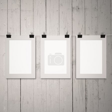 blank posters on clips