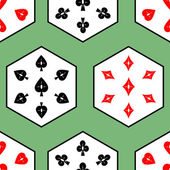 Seamless texture of card suits