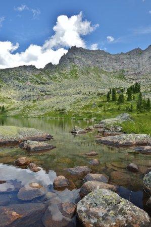 Photo pour Mountains Siberia  Russia  the Krasnoyarsk territory - image libre de droit