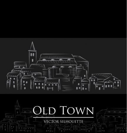 Silhouette of the old city