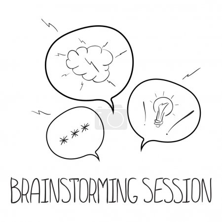 Vector speech bubbles concept brainstorming session