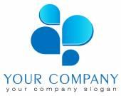 Abstract vector logo template banking logo