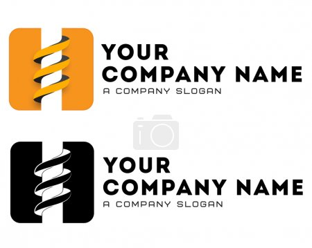 Logo template, vector, coal-plow, mining, bore, drilling business