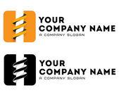 Logo template vector coal-plow mining bore drilling business