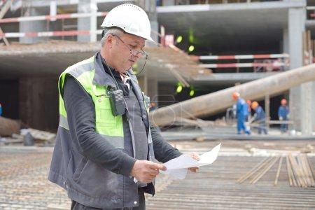 Senior Foreman At Construction Site
