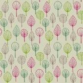 Decorative colorful forest pattern