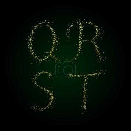 Golden letters Q R S T