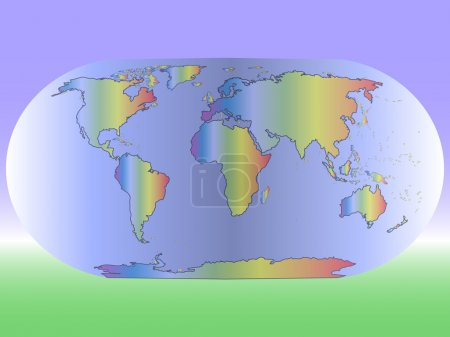 world map multicolored  on a  background