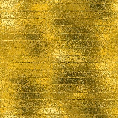 Photo pour Feuille d'or haute définition Texture tiled. Modèle de vacances brillant. Web et impression haute résolution or fond. Avec cette texture, vous pouvez créer awsome web-backgrounds et bannières, voeux et cartes de visite, flyers et invitations. - image libre de droit