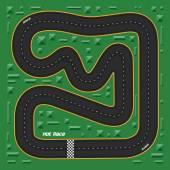 Cartoon racing map for game