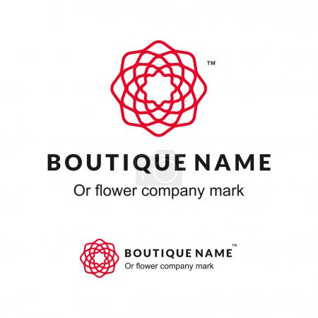 Beautiful Contour Logo with Flower for Boutique or...