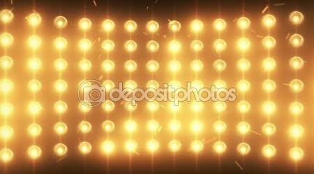 Helle Flut Lichter Hintergrund mit Partikeln und glühen. Gold-Farbton. Nahtlose loop