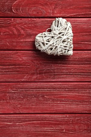 Love heart on a red