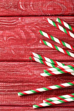 Striped drink straws