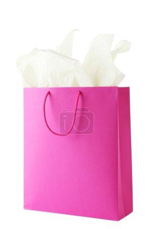 Crimson shopping bag