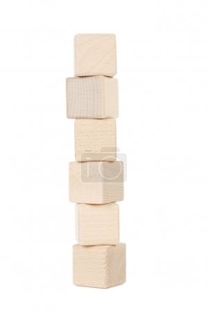 Photo for Wooden toy cubes isolated on a white - Royalty Free Image