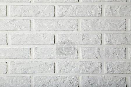 Photo pour Fond de mur de briques blanches, gros plan - image libre de droit