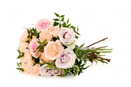 Bouquet of beautiful roses isolated