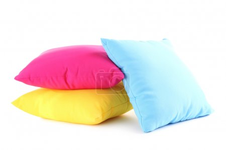Colorful pillows isolated