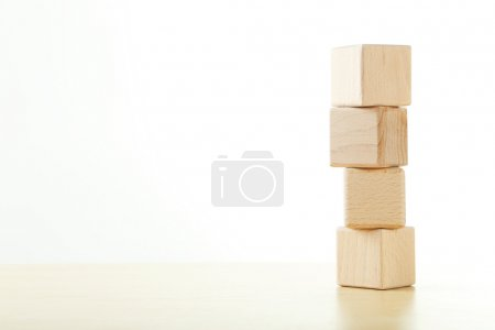 Wooden toy cubes