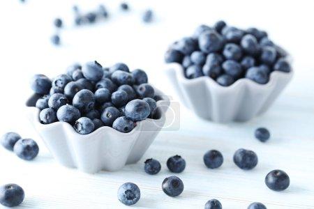 Ripe fresh blueberries
