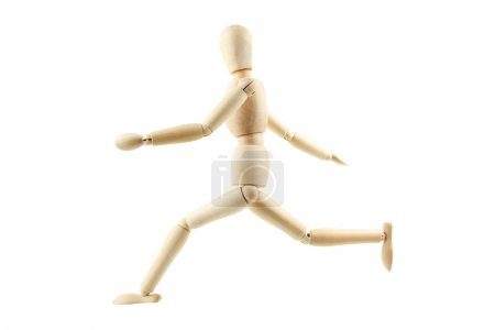 Wooden figure isolated