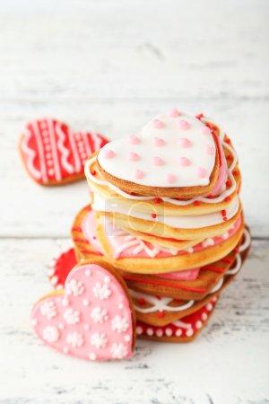 Heart tasty cookies