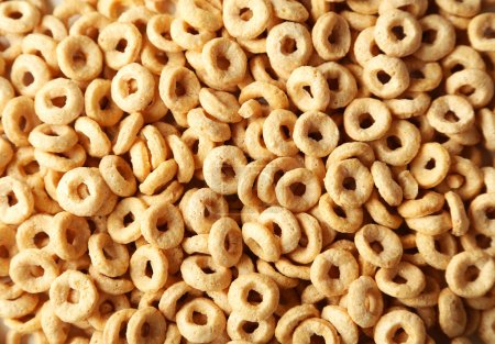 Tasty cornflakes background