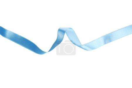 Photo pour Ruban bleu sur fond blanc gros plan - image libre de droit