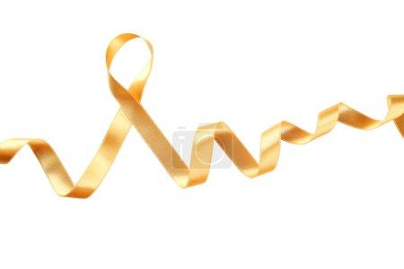 Golden ribbon on white