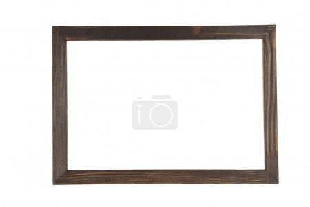 Brown wood frame