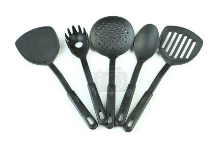 Black kitchen utensils