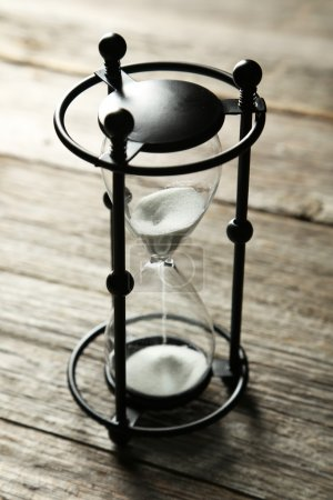 Vintage black hourglass