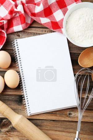 Open blank recipe book