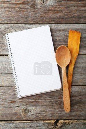 Open blank recipe book