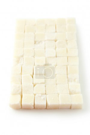 Photo for Sugar cube isolated on a white - Royalty Free Image