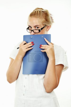 Girl with her notebook