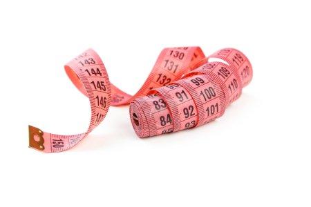 Pink measuring tape