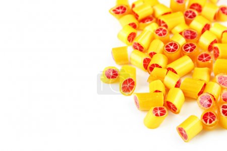 candies on white background