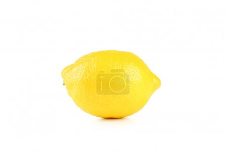 Photo for Ripe Lemon isolated on white background - Royalty Free Image