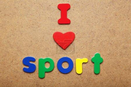 I love sport words