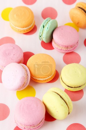 Photo for French macarons on colorful background - Royalty Free Image