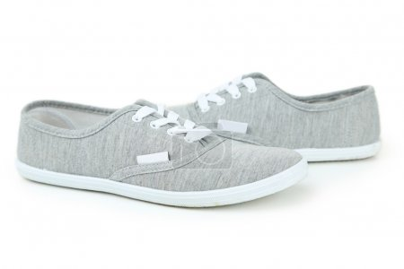 Pair of grey shoes