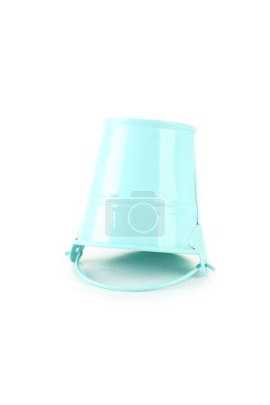 Blue empty bucket